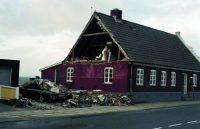 Parcelhus med ødelagt gavltrekant