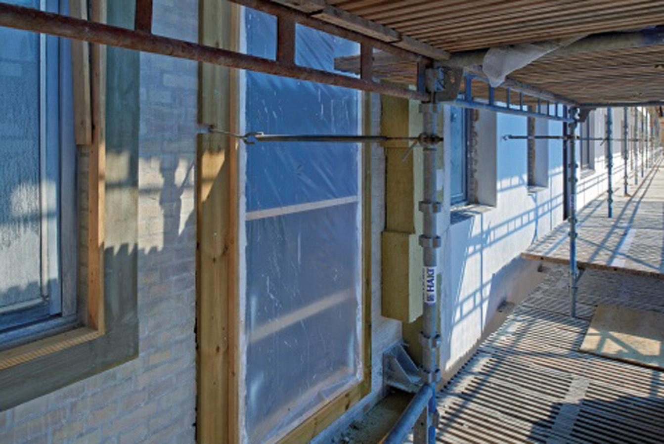 Udvendig (efter)isolering – tegl-, beton- og letbetonvægge med puds på isolering | BYG-ERFA